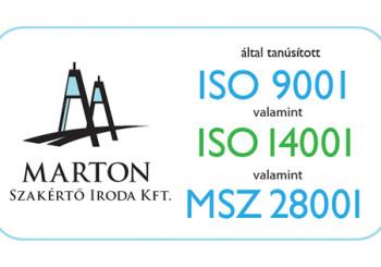 Áttértünk az új integrált irányítási ISO szabványokra